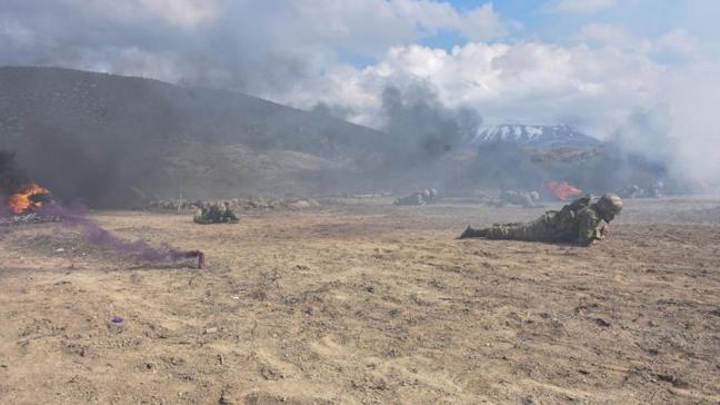 Azerbaycan ordusu Isparta'da komanda eğitiminde