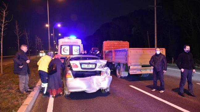 Samsun'da trafik kazası... İçlerinde hakiminde bulunduğu 4 kişi yaralandı