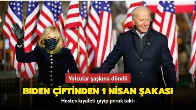 Joe Biden ve eşinden uçakta 1 Nisan şakası