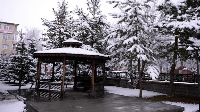 Nisan ayında Ardahan'da kar
