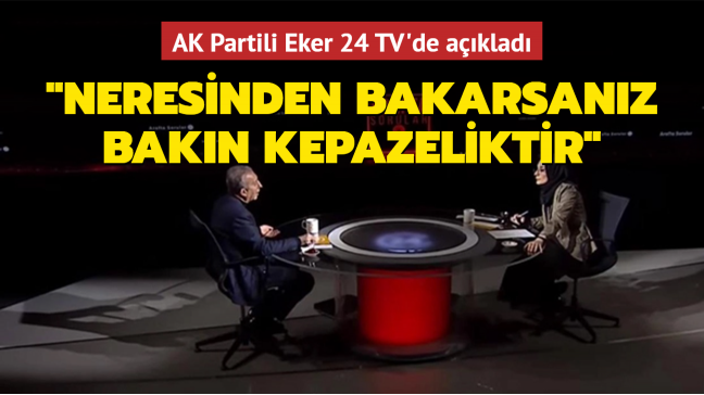 AK Parti Milletvekili Eker: Emekli amiralin bildirisi, neresinden bakarsanız bakın kepazeliktir