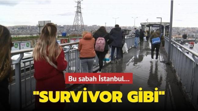 İstanbul'da vatandaşların üst geçit çilesi: Survivor parkuru gibi