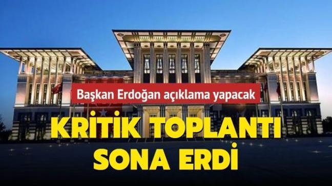 Külliye'de kritik toplantı sona erdi: Başkan Erdoğan darbe imalı bildiriyle ilgili ilk kez açıklama yapacak
