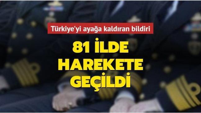 Türkiye'nin 81 ilinden darbe imalı skandal bildiriye yüzlerce suç duyurusunda bulunuldu