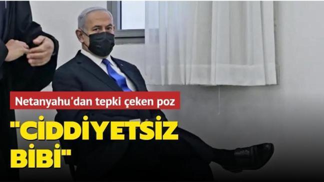 Yolsuzluktan yargılanan İsrail Başbakanı Netanyahu'dan tepki çeken poz: Ciddiyetsiz bibi