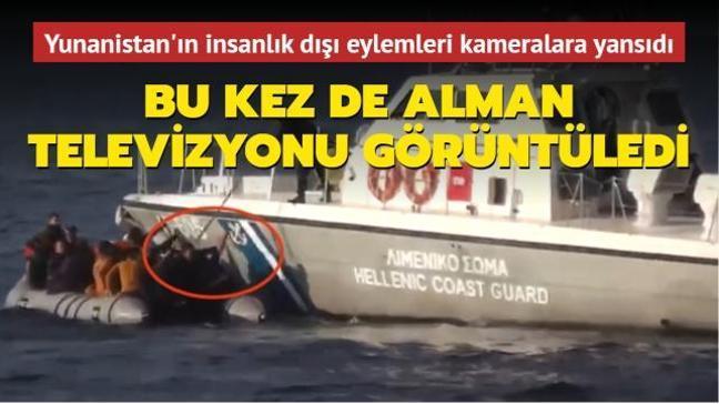 Bu kez de Alman televizyonunda görüntülendi... Yunanistan'ın insanlık dışı eylemleri kameralara yansıdı