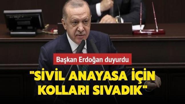 Başkan Erdoğan: Sivil anayasa için sahada ve masada kolları sıvadık