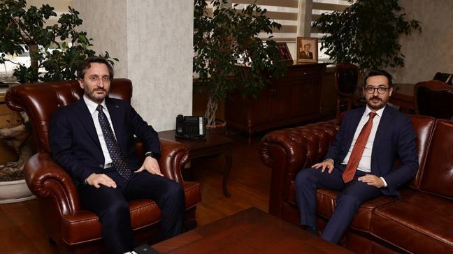 İletişim Başkanı Fahrettin Altun'dan AA'ya hayırlı olsun ziyareti