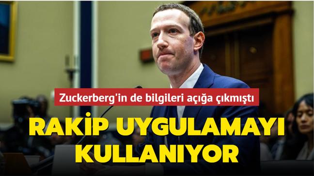 Zuckerberg kendi mahremiyetinin peşinde... Rakip uygulamayı kullanıyor