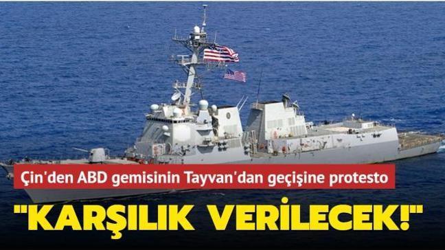 ABD savaş gemisinin Tayvan Boğazı'ndan geçişi Çin'de tepkiyle karşılandı