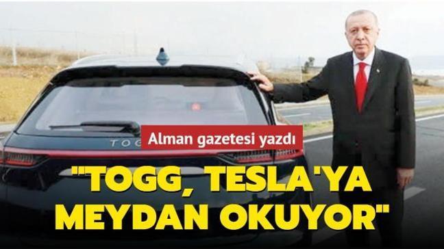 Alman gazetesi yazdı! 'TOGG, Tesla'ya meydan okuyor'