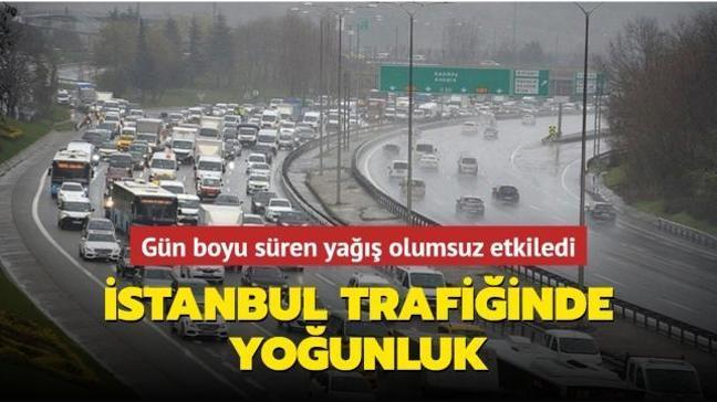 İstanbul'da trafik yoğunluğu akşam saatlerinde yüzde 70'e ulaştı