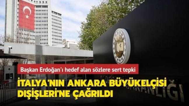 İtalya'nın Ankara Büyükelçisi Dışişleri Bakanlığı'na çağrıldı