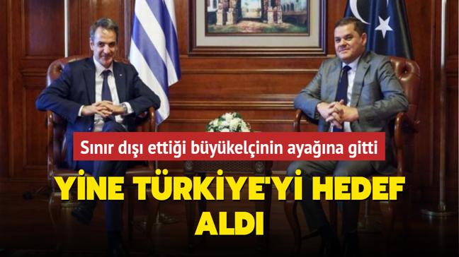 Sınır dışı ettiği büyükelçi devlet başkanı olunca ayağına gitmek zorunda kalmıştı... Yine Türkiye'yi hedef aldı