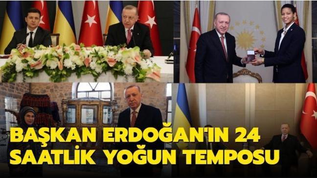 Başkan Erdoğan'ın 24 saatlik yoğun temposu