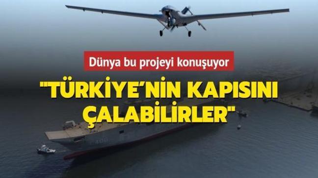 Dünya bunu konuşuyor: Türkiye TCG Anadolu'ya SİHA konuşlandırıyor