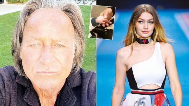 Gigi Hadid'in babası Mohamed Hadid'in Türkiye'den aldığı künye Khai'nin kolunda