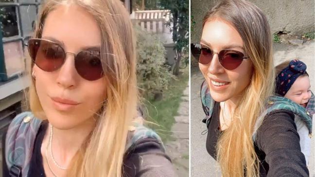 Sinem Kobal kızı Lalin'in yüzünü ilk kez paylaştı