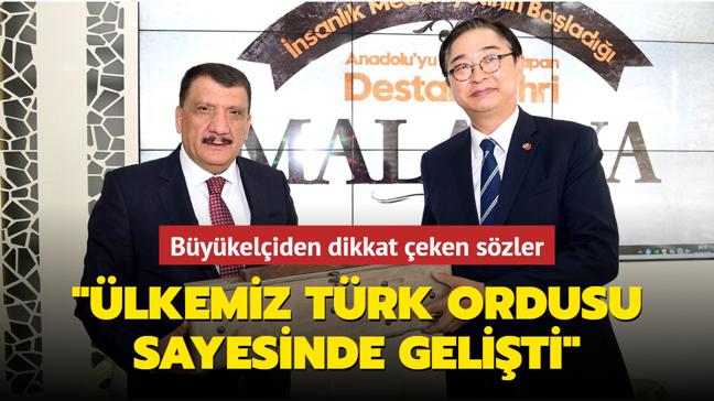 """Güney Koreli büyükelçi: """"Ülkemizin gelişmiş olmasının temelinde Türk ordusu vardır"""""""