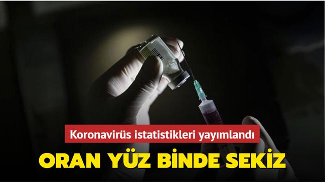 Koronavirüs istatistikleri yayımlandı: Oran 100 bin kişide 8