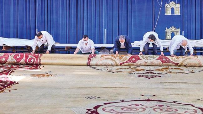 3 tonluk tarihi halı Yıldız Köşkü'ne dönüyor