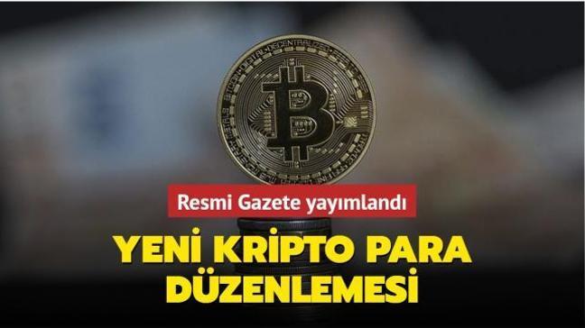 Resmi Gazete yayımlandı... Yeni kripto para düzenlemesi
