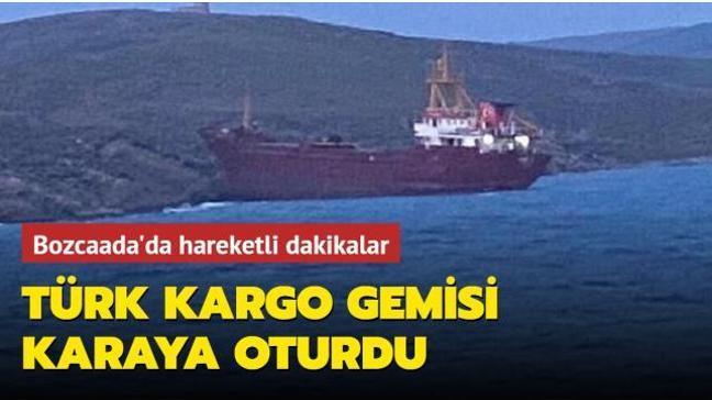 Türk kargo gemisi karaya oturdu