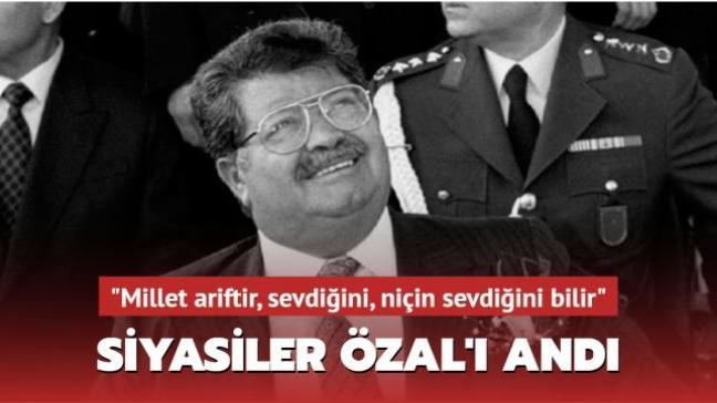 Siyasiler Turgut Özal'ı andı