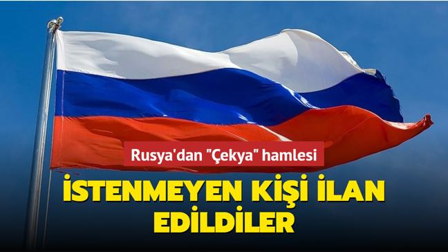 """Rusya'dan """"Çekya"""" hamlesi... İstenmeyen kişi ilan edildiler"""