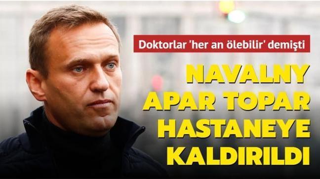 Doktorlar 'her an ölebilir' demişti: Açlık grevine giren Navalny apar topar hastaneye kaldırıldı
