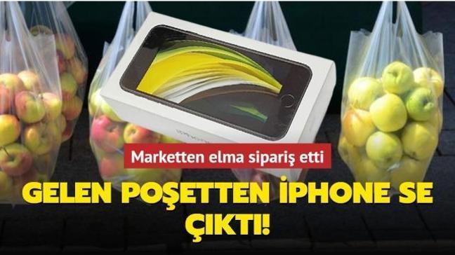 Elma sipariş eden adama gelen poşetten iPhone SE çıktı