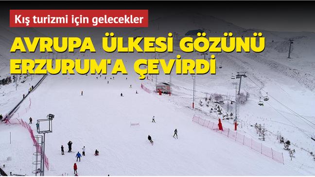Avrupa ülkesi gözünü Erzurum'a çevirdi... Kış turizmi için gelecekler