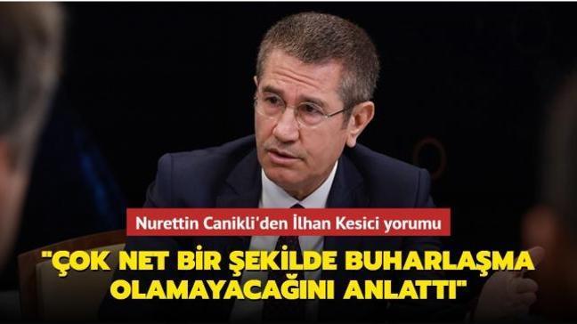 """Canikli'den İlhan Kesici yorumu: """"Halk TV'de çok net bir şekilde buharlaşma olamayacağını anlattı"""""""