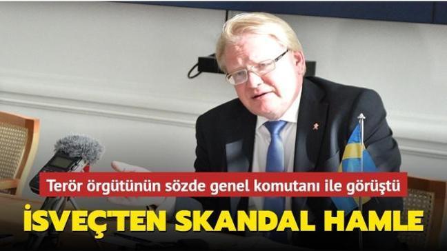 İsveç'ten skandal hamle: Terör örgütünün sözde genel komutanı Ferhat Abdi Şahin ile görüştü