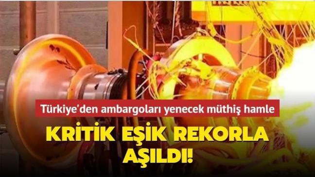 Türkiye yerli motorda kritik eşiği dünya rekoruyla aştı