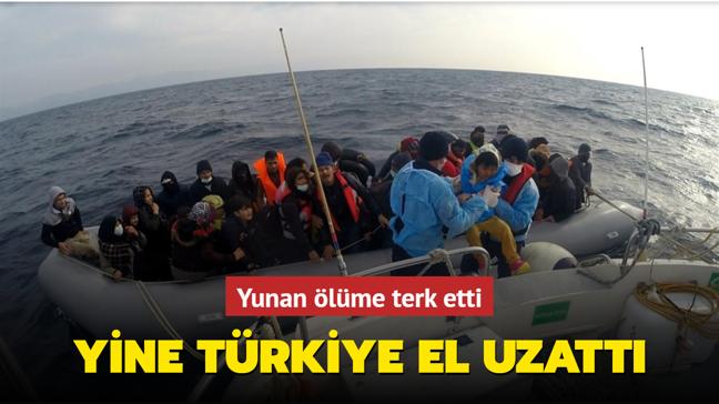 Yunanistan'ın ölüme terk ettiği 54 göçmen kurtarıldı