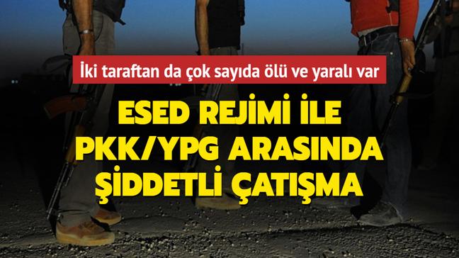 Esed rejimi ile terör örgütü PKK/YPG arasında çatışma çıktı