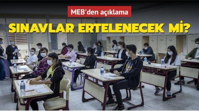 """MEB'den son dakika açıklaması: 3 Mayıs'taki sınavlar ertelenecek mi"""""""