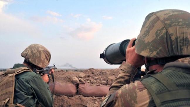 Barış Pınarı bölgesine taciz ateşi açan 4 PKK/YPG'li terörist etkisiz hale getirildi
