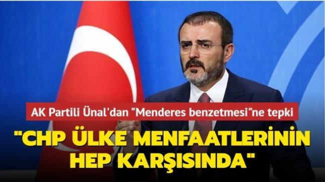 """AK Parti Grup Başkanvekili Mahir Ünal'dan """"Menderes benzetmesi""""ne tepki: """"CHP ülke menfaatlerinin hep karşısında"""""""