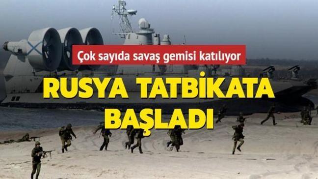 Karadeniz ve Hazar donanmasına ait savaş gemileri katılıyor... Rusya tatbikata başladı