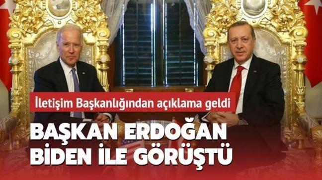 Başkan Erdoğan, ABD Başkanı Joe Biden ile telefonda görüştü