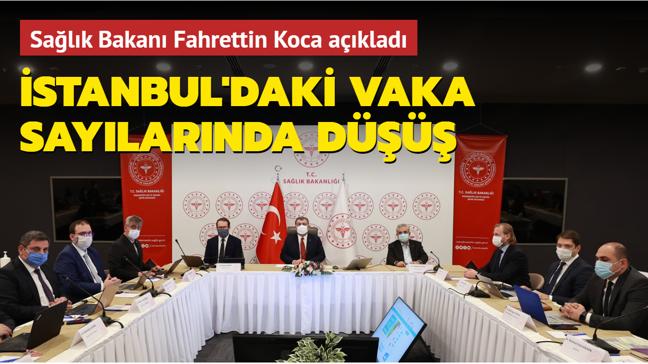 Sağlık Bakanı Koca açıkladı... İstanbul'daki vaka sayılarında düşüş
