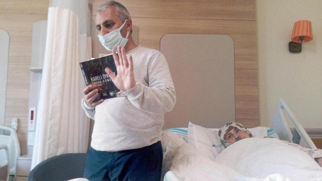 Hastane odasından online eğitime devam etti