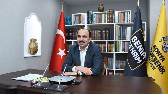 Konya'da 23 Nisan çevrim içi kutlandı