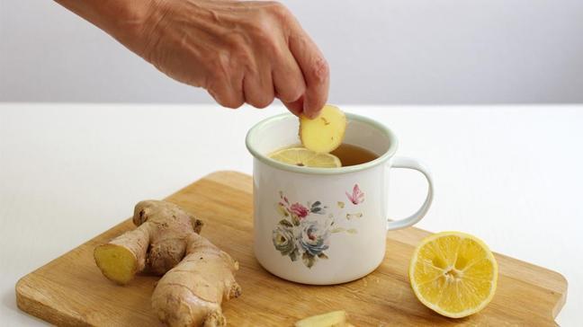 Mideye birebir zencefil çayı