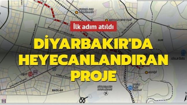 Diyarbakır'da heyecanlandıran proje: İlk adım atıldı