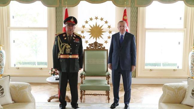 Başkan Erdoğan Afganistan eski Cumhurbaşkanı Yardımcısı'nı kabul etti