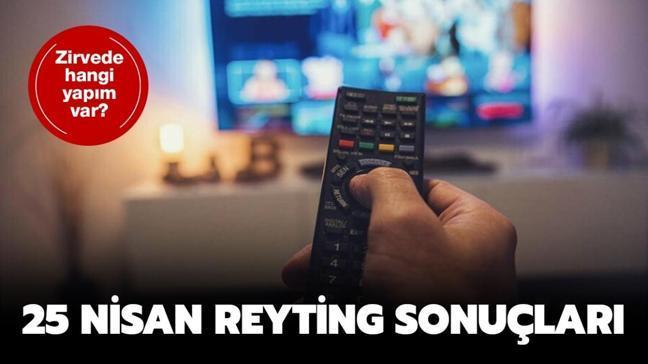 25 Nisan 2021 Pazar reyting sonuçları belli oldu! Pazar reyting sonuçları birincisi...