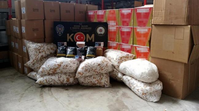 Adana'da bin 400 kilo kaçak tütün ele geçirildi